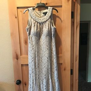 R&M Richards 14 Gold Evening Gown Beautiful